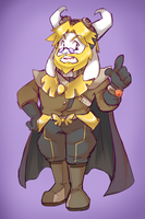 Underboom Dr.Asgore by thegreatrouge