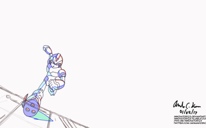 Megaman X4 : X running - In-between animation test by innovator123