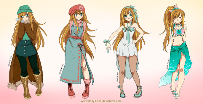 Holly Clothes reference simple sketch by Rolly-Chan