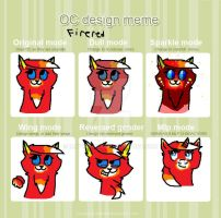 OC Design Meme ~ Firered by mattlancer
