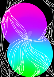 Neon Floral Cutout by harleqz