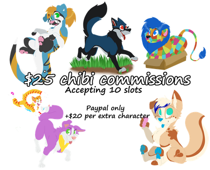 Open for Chibi Commissions! 10 slots Available! by Kawaii-Mouse