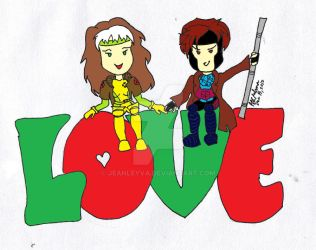 Gambit and Rogue Love by jeanleyva