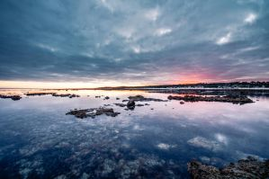 Twilight at the beach by Mickyjftw