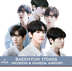 Baekhyun 170606 Airport PNG PACK by Bears-and-Cookies