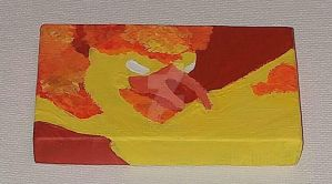 Mini Canvas: Moltres - Red - Team Valor by wolf-girl87