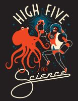MARCH FOR SCIENCE: HIGH FIVE FOR SCIENCE by PaulSizer
