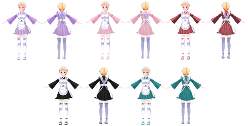 CM3D2: Outfit (Nadeshiko Maid Outfit) by Jalmod