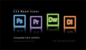 CS3 Neon Icons by Oscarmeyer