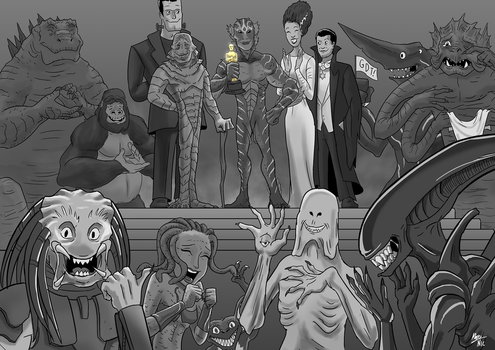 Movie Monsters at the Oscars by A3DNazRigar