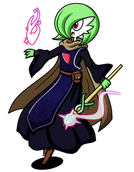 PokeCharity - Gardevoir the Mage by Plucky-Nova