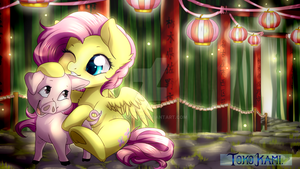 Fluttershy - Year of the Pig by TokoKami
