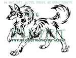 Nature Wolf Tattoo Commish by WildSpiritWolf