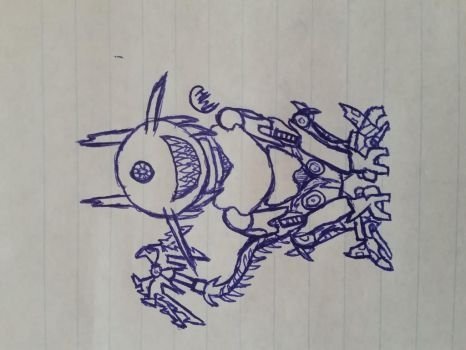 first pen drawing by transformers--wolves