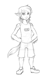 .:Commission Sketch:. Reese by Anilede