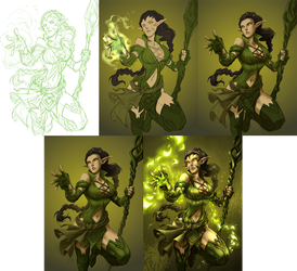 Nissa WIP by Quirkilicious
