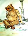 Great Bear and Red Squirrel [Nonvore G/t] by SpidersVore