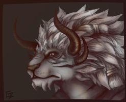 Charr portrait by PapaVego