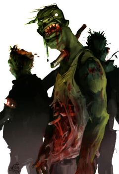 Zombies by lychi