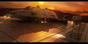 Imperial Tatooine Outpost by AdamKop