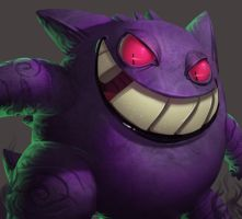 One face a day 175/365. Gengar (pokemon) by Dylean