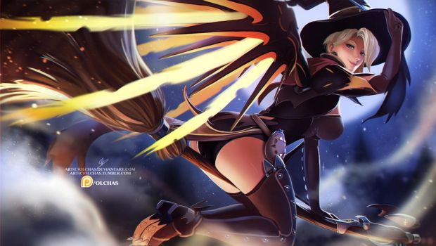 Witch Mercy :NSFW optional: by OlchaS