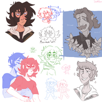 Voltron Art Dump by ssdoodleboat