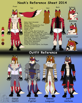 Noah Reference Sheet 2014 by MaximusEXE