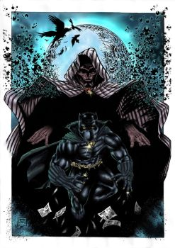 Cloack and Black Panther color by barfast