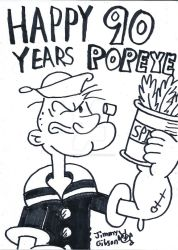 Happy 90th Anniversary Popeye! by CelmationPrince