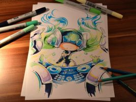 Kinetic DJ Sona Chibi by Lighane
