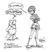 Ewoks have to pee too by OuthouseCartoons