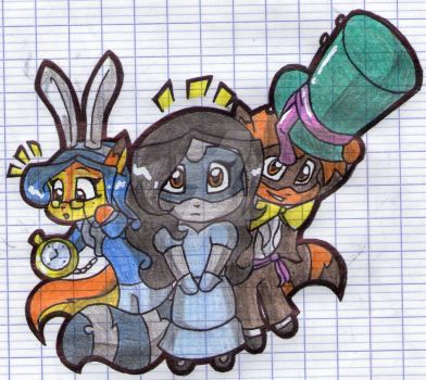 Chibis in Wonderland by EmilieSushi