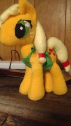MLP cooking with applejack plushie by elfy016