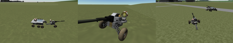 Antlion pack howitzer and Leafcutter utility tug by theweeklymudkip