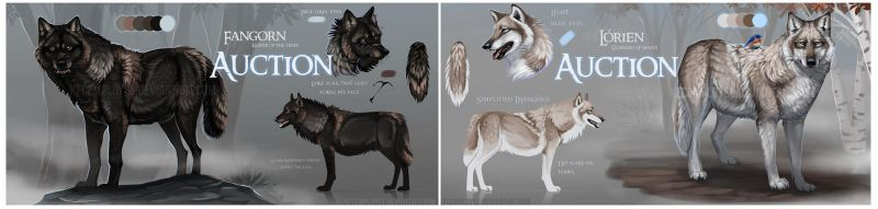 Wolf couple AUCTION CLOSED by Chickenbusiness