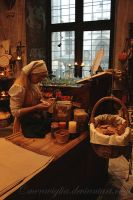 Medieval girl's workday by meraviglia