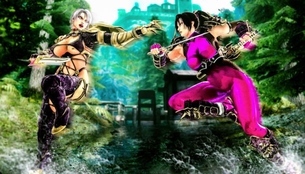 The Battle of the Busty Women by LordHayabusa357