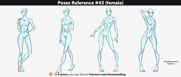 Poses Reference #43 (female) by Anastasia-berry