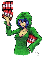 Creeper Girl by Claymore32