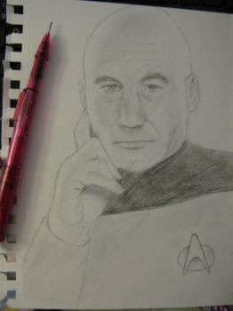 Captain Jean-Luc Picard by Axuww