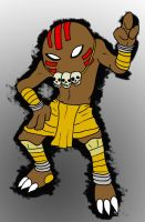 Hitmonlee as Dhalsim by Flameydragwasp