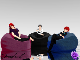 [DL] Beanbags for MMD by RainbowGear