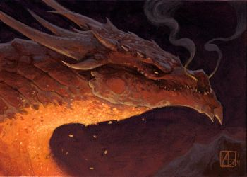 Dragon Study #5, Smaug! by alexstoneart