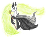 Maleficent (ponified) by Nightmare-Loon