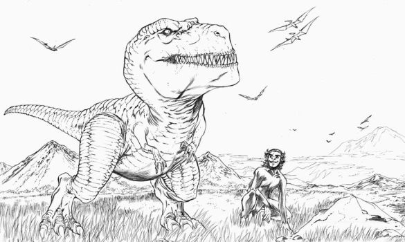 Devil Dinosaur and Moonboy by ColtNoble