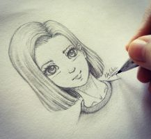 Android 18 | Quick Drawing  by NEKKIU