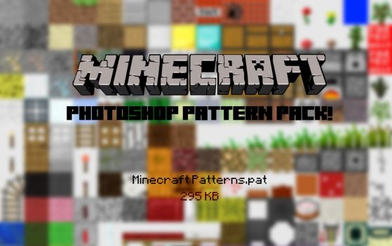 Minecraft Blocks photoshop pattern pack! by Shlekky