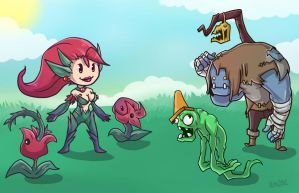 Plants vs Zombie via League Of Legends by RinTheYordle