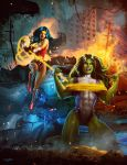 WONDERWOMAN VS SHE-HULK by ISIKOL
